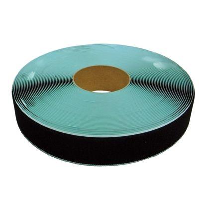 まつうら工業 粘着付マジックテープ B面ループ(PN) 黒 50mm巾X25m