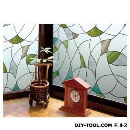 明和グラビア 飛散防止効果のある窓飾りシート グリーン (GHR-9203) 明和グラビア 補修剤・補修用品 窓ガラス用
