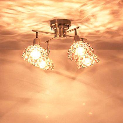 メルクロス マルコ-D4灯シーリングランプクロスリモコン付き クリア 直径55.5H29.5cm(シェードサイズ直径17.5cm) 001848