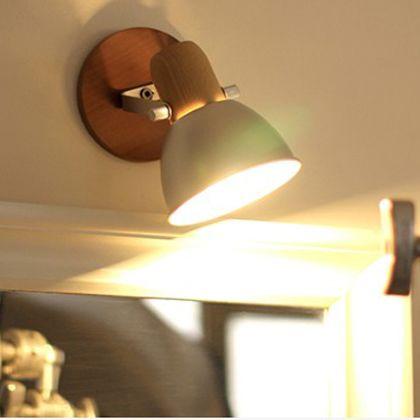 メルクロス アルミ&ウッドテーブル&壁掛け兼用ランプ ゴールド 直径15H22cm 001864