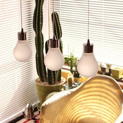 メルクロス ル・ライトガラス電球形3灯LEDペンダント ●BULBパーツ 直径9H14cm●上部取付箇所 W45H6D15cm 001876