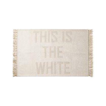 メルクロス THISISTHEWHITE(フリンジラグ) ホワイト 90×130cm 1214
