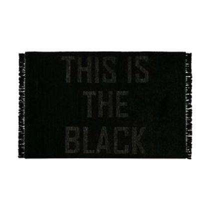 メルクロス THISISTHEBLACK(フリンジラグ) ブラック 140×200cm 1215