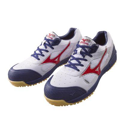 ミズノ・オールマイティー 作業用靴 ALMIGHTY ホワイト×ネイビー 27.0cm C1GA160001270