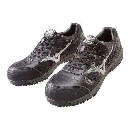 ミズノ・オールマイティー 作業用靴 ALMIGHTY ブラック×シルバー 24.5cm C1GA160009245