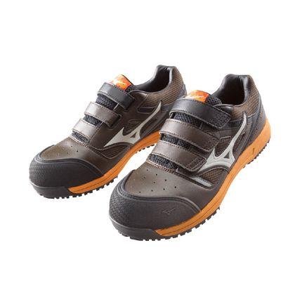 ミズノ・オールマイティー 作業用靴 ALMIGHTY ブラウン×ベージュ×オレンジ 27.5cm C1GA160155275