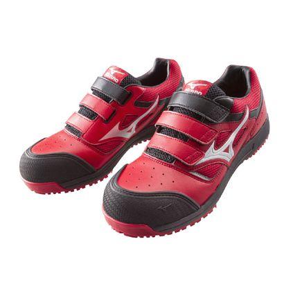 ミズノ・オールマイティー 作業用靴 ALMIGHTY レッド×シルバー×ブラック 26.0cm C1GA160162260