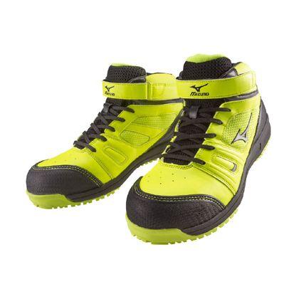 ミズノ・オールマイティー 作業用靴 ALMIGHTY MT イエロー×シルバー×ブラック 25.5cm C1GA160245255