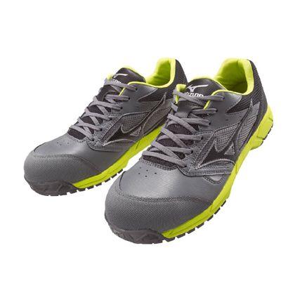 ミズノ・オールマイティー 作業用靴 ALMIGHTY LS グレー×ブラック×グリーン 27.5cm C1GA170005275