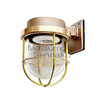 松本船舶 マリンランプ ウォールライトシリーズ 1号フランジ ランプ無モデル ゴールド (1-FR-G)