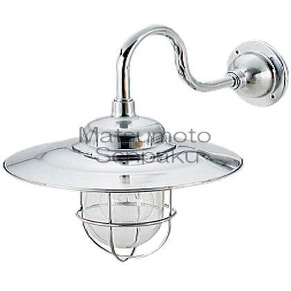 松本船舶 マリンランプ ポーチライトシリーズ 1S号アクアライト 白熱ランプ装着モデル シルバー (1S-AQ-S)