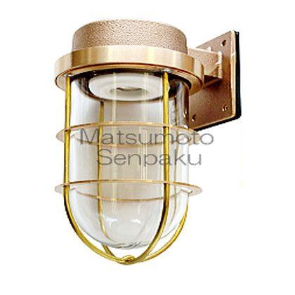 松本船舶 マリンランプ ウォールライトシリーズ R2号フランジ LEDランプ装着モデル ゴールド (R2-FR-G)