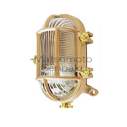 松本船舶 マリンランプ デッキライトシリーズ Rカメガタデッキ LEDランプ装着モデル ゴールド (RKM-DK-G)