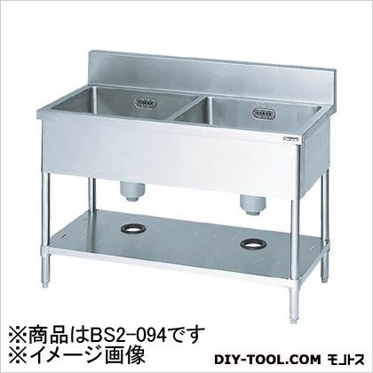 マルゼン 二槽シンク900×450×800(ホース付)  BS2094