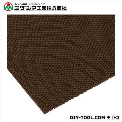 ミヅシマ工業 エントラップマット スタンダードアンバック ブラウン 900mm×6M 403-3540