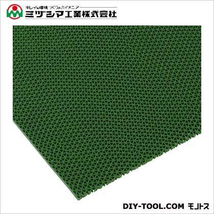 ミヅシマ工業 エントラップマット スタンダードアンバック グリーン 900mm×6M 403-3550