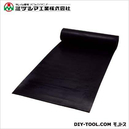 ミヅシマ工業 ラバーストロングマット61 ブラック 1M×10M×6mm 410-0760
