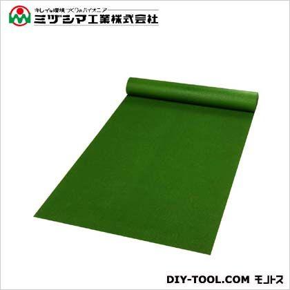 ミヅシマ工業 ダイヤマット ダークグリーン 1M×10M×3.5mm 411-0170