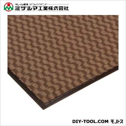ミヅシマ工業 エンハンスマット3000 ブラウン 900mm×750mm 413-0940