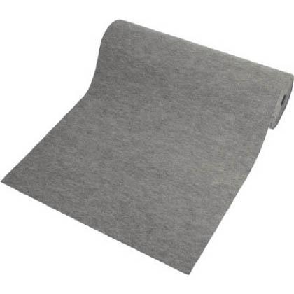 ミヅシマ工業 オイルクリーンマットD(吸油マット) 表面:グレー 910mm×20M 490-0250