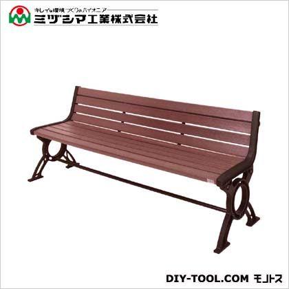 ミヅシマ工業 リサイクルベンチRB6-LW背付 間口1825mm×奥行550mm×高さ720mm 244-0610