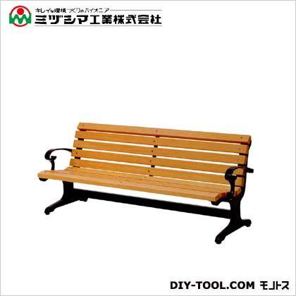 ミヅシマ工業 ベンチW1(木製ベンチ) 間口1900mm×奥行685mm×高さ745mm 240-0200
