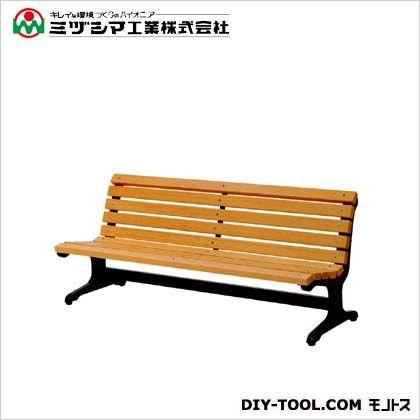 ミヅシマ工業 ベンチW2(木製ベンチ) 間口1800mm×奥行685mm×高さ745mm 240-0210