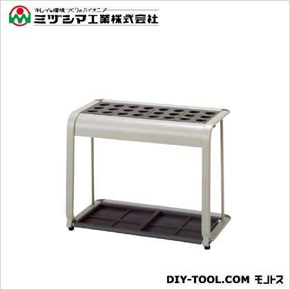 ミヅシマ工業 レインスタンドM24 グレー(メラミン焼付塗装) 間口655mm×奥行325mm×高さ500mm 230-0250