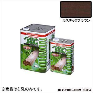 三井化学産資 ノンロット205N Sカラー 屋外用 ラスチックブラウン 3.5L (SG-RBR) 木部専用 塗料 木部 木材