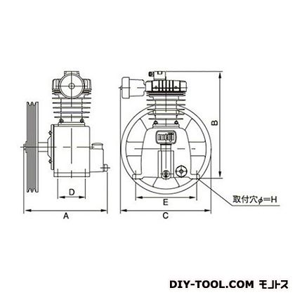 ※法人専用品※明治機械製作所 圧縮機本体 幅×奥行:286×263mm GNO-1C