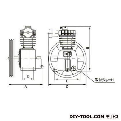 ※法人専用品※明治機械製作所 圧縮機本体 幅×奥行:327×300mm GHO-2D