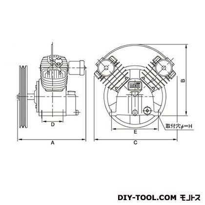 ※法人専用品※明治機械製作所 圧縮機本体 幅×奥行:771×499mm BT-110C