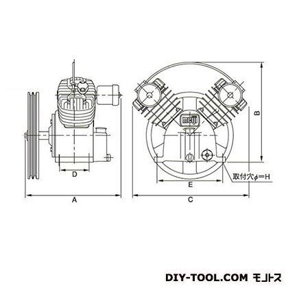 ※法人専用品※明治機械製作所 圧縮機本体 幅×奥行:500×401mm BTH-37