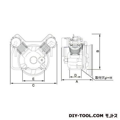 ※法人専用品※明治機械製作所 オイルフリー圧縮機本体 幅×奥行:602×396mm BFOP-37