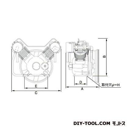 ※法人専用品※明治機械製作所 オイルフリー圧縮機本体 幅×奥行:700×455mm BFOP-55