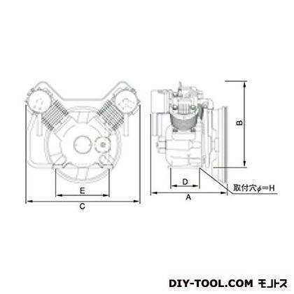 ※法人専用品※明治機械製作所 オイルフリー圧縮機本体 幅×奥行:700×455mm BFOU-55