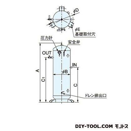 ※法人専用品※明治機械製作所 空気タンク 高さ:1626mm ST230A-140