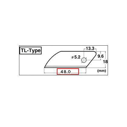 NT L 類型硬質合金葉片 L-型刀葉片 (BTL-3 P) NT 刀具刀刀片刀具備用刀片