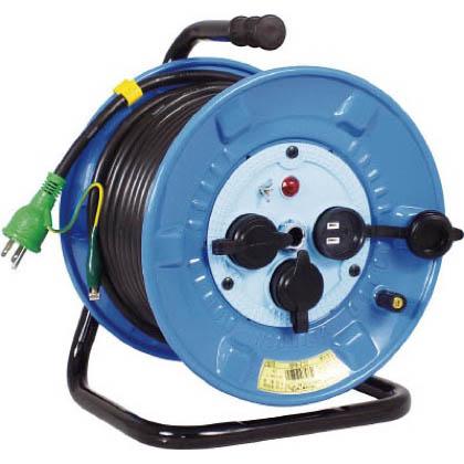 日動 電工ドラム防雨防塵型100Vドラムアース付30m 290 x 255 x 365 mm NPWE33 1