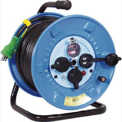 日動工業 電工ドラム 防雨防塵型100Vドラム アース過負荷漏電しゃ断器 30m (×1台)  NPWEK33