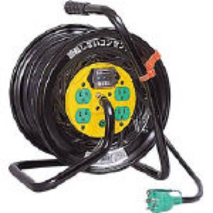 日動工業 電工ドラム(電工リール・コードリール) マジックリール 100V アース漏電しゃ断器付 30m (×1台)  ZEB34
