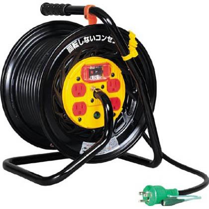 日動工業 電工ドラム マジックリール 100V アース過負荷漏電しゃ断器付 30m (×1台)  ZEK34