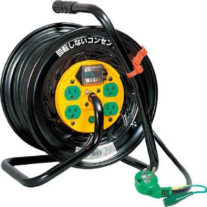 日動工業 電工ドラム マジックリール 100V アース漏電しゃ断器付30m (×1台)  TZEB34