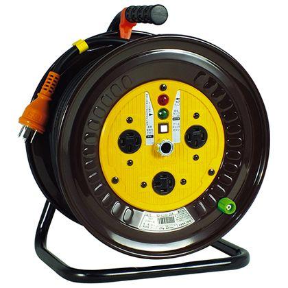 日動工業 電工ドラム 三相200Vドラム アース付 30m (×1台) (NDE33020A)