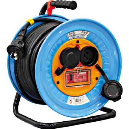 日動工業 電工ドラム 防雨防塵型三相200V アース過負荷漏電しゃ断器付 30m (×1台)  DNWEK33020A