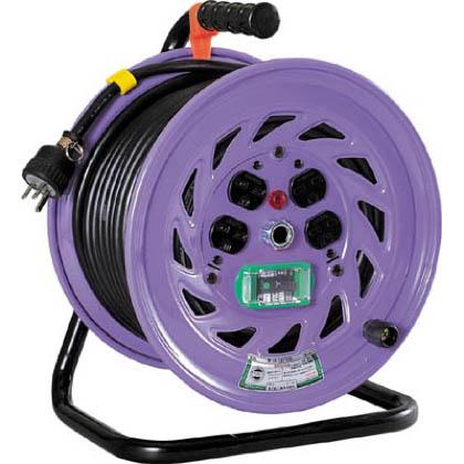 日動 電工ドラム単相200Vドラムアース漏電しゃ断器付30m  NF-EB230-15A