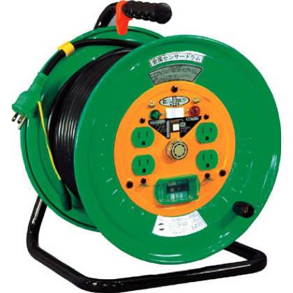 日動工業 日動 金属センサードラム 100V アース漏電しゃ断器付 30m KSEB34 1台  KSEB34 1 台
