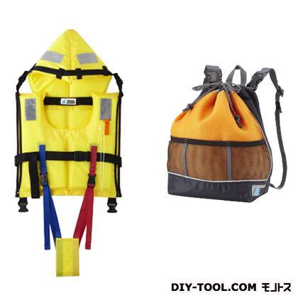 TSUNA GUARD ツナガード 子供用 固型式ライフジャケット&巾着型リュック (TG-Y2O)