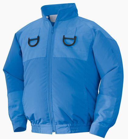 NSP NA103フルハーネス用空調服チタンセット ブルー 4L 554580433222133