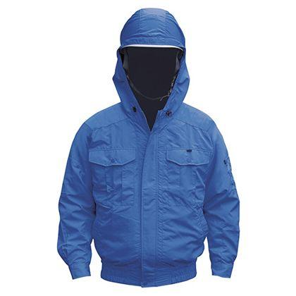 NSP NB-101空調服チタンフード付(服) ブルー S 554582397503860